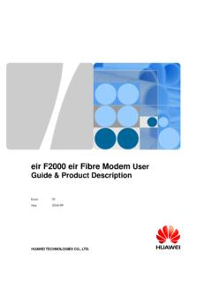 eir F2000 eir Fibre Modem User Guide & Product Description