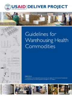 Guidelines for Warehousing - World Health Organization