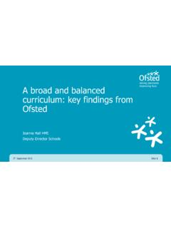 A broad and balanced curriculum: key findings from Ofsted