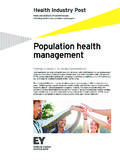 Population health management - EY - United States