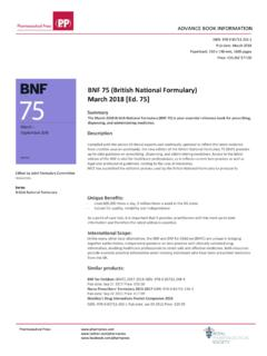 BNF 75 (British National Formulary) March 2018 …