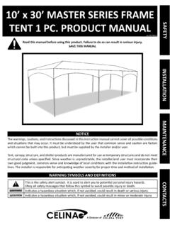 10' x 30' MASTER SERIES FRAME TENT 1 PC. PRODUCT …