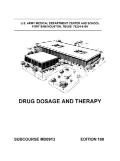 DRUG DOSAGE AND THERAPY - nursing411.org