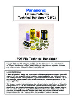 Lithium Batteries Technical Handbook '02/'03