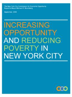 INCREASING OPPORTUNITY AND REDUCING ... - New York City