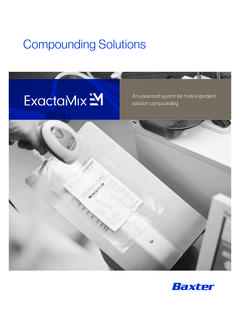 Compounding Solutions - Baxter Medication …
