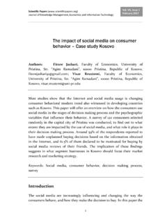 The impact of social media on consumer behavior – Case ...