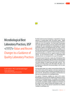 Microbiological Best Laboratory Practices, USP <1117 ...