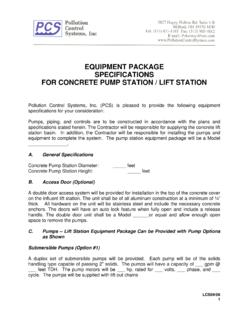 Concrete Pump Station / Lift Station Equipment Package ...