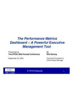 PPT - The Performance Metrics Dashboard – A …