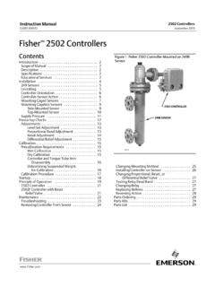 Fisher 2502 Controllers - Emerson