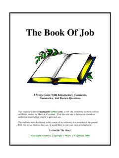 The Book Of Job - Executable Outlines
