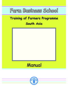 Training of Farmers Programme South Asia