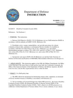 Department of Defense INSTRUCTION - DoD …
