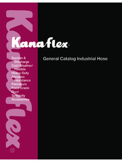 Suction & General Catalog Industrial Hose - Kanaflex Corp