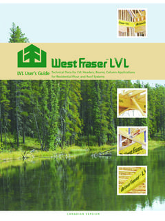 LVL User's Guide T e ch nialD tf ... - West Fraser Timber