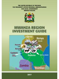 MWANZA REGION INVESTMENT GUIDE - Home | …
