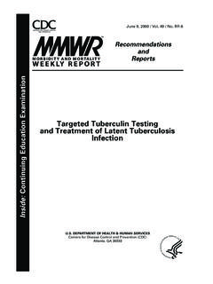 Targeted Tuberculin Testing Infection