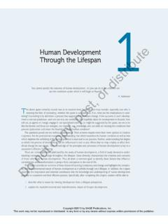Human Development Through the Lifespan