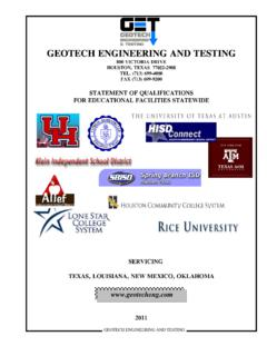 GEOTECH ENGINEERING AND TESTING