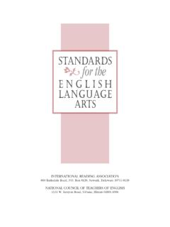 Standards for the - NCTE
