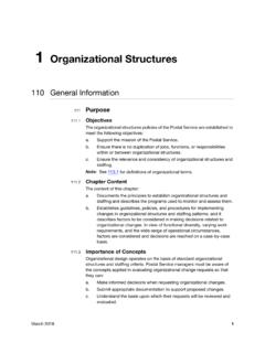 1 Organizational Structures - USPS