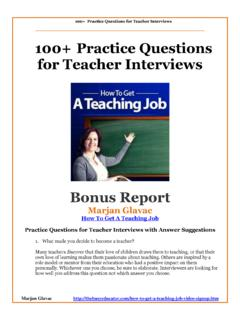 100+ Practice Questions for Teacher Interviews