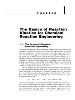 The Basics of Reaction Kinetics for Chemical Reaction ...