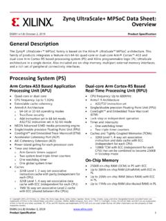 Zynq UltraScale+ MPSoC Data Sheet: Overview (DS891)