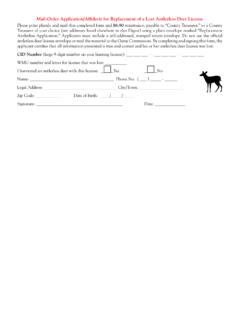 Mail-Order Application/Affidavit for Replacement of a Lost ...