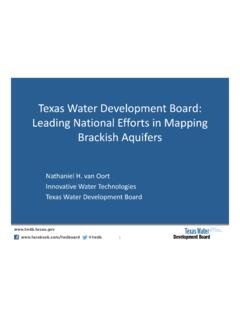 Texas Water Development Board: National Efforts in Mapping ...
