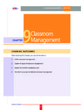 CHAPTER 9 9Classroom Management CHAPTER