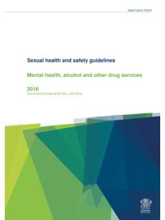 Sexual health and safety guidelines for mental health ...
