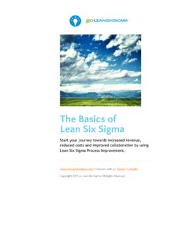 The Basics of Lean Six Sigma