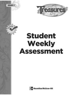 Student Weekly Assessment - School district