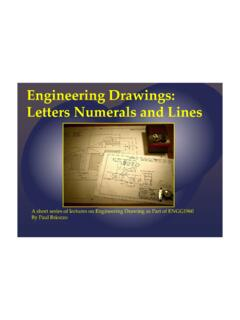 Engineering Drawings Lecture Letters Numerals and Lines