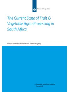 The Current State of Fruit & Vegetable Agro-Processing in ...