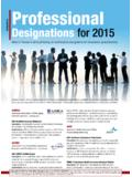 Professional Designations for 2015 - A. M. Best