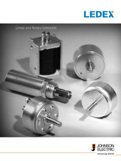 Linear and Rotary Solenoids - SIRPLES