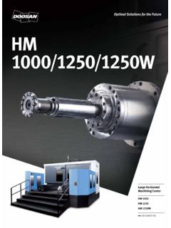 HM 1000 1250W - Doosan Machinetools