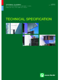 TECHNICAL SPECIFICATION - Johns Building Supplies