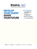 DEVELOP MAY – AUGUST 2018 YOUR TALENT • …