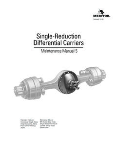 Single-Reduction Differential Carriers - Parts Manuals