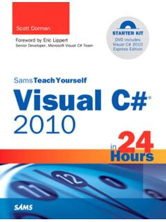 Sams Teach Yourself Visual C#®2010 in 24 Hours: Complete ...