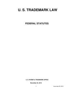 U. S. TRADEMARK LAW - uspto.gov