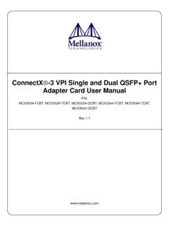 ConnectX -3 VPI Single and Dual QSFP+ Port Adapter Card ...