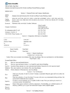 Material Safety Data Sheet Alumina …