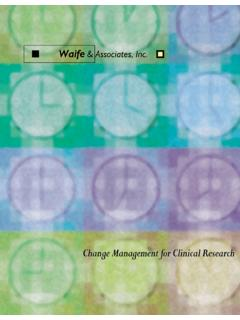 Change Management for Clinical Research - Waife