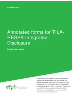 Annotated forms for TILA- RESPA Integrated …