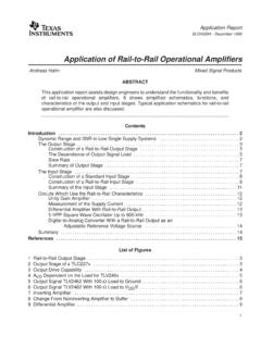 'Use of Rail-to-Rail Operational Amplifiers'